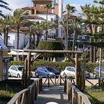 Nuestra pasarela situada frente a Hotel barceló Isla Canela