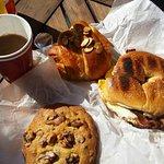 June breakfast before the ferry ride