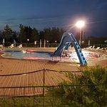 baby pool at night
