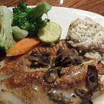 Grilled Tilapia and Crabmeat - very nice