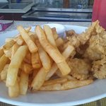 cracked conch with fries