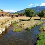 The river that supplies water for this working pueblo