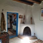 Inside one of the pueblos - the home of the shop's owner