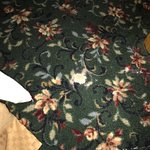 The carpet with holes and dirty,