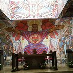 Church of the Angry Christ. Last Supper mural. Sundial.