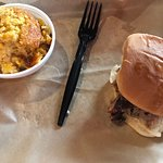 Pulled Pork Sandwich with Corn Pudding
