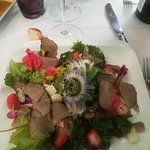 My delicious salad was to beautiful to be eaten!