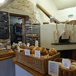 Bread for sale in Talgarth Mill cafe (made from the mill's flour)