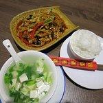Fresh vegetables e tasteful food.