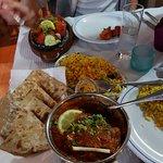 Chicken Jalfrezi & Pilau Rice with Tandoori Roti