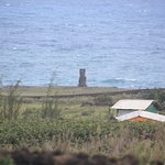 We saw our first moai during lunch at the hotel