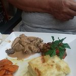 Assiette foie gras et ris d'agneau aux morilles