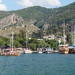View from the boat, coming into dock at Fethiye