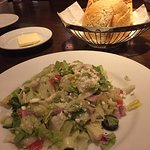 Mixed salad and bread basket