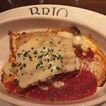 Brunch serving of Lasagna