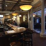 Large open bar at Brio