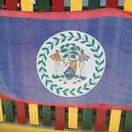 Belize flag on Caye Caulker