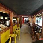 La Cubana Restaurant in Caye Caulker-narrow layout
