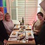Enjoying the fine food ar Rumi Restaurant