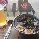 Yuzu broth ramen and yuzu beer! Great combination.