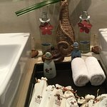 Beautifully presented toiletries and spotless clean