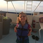 Having fun on the boat