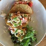 Salmon taco appetrizer