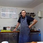 Andy the chef at Pipers Pitch