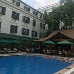 Pool ad bamboo bar