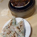 beef tendon and prawn wrap