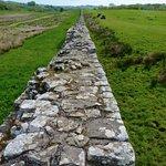 Birdoswald Fort, section of Hadrian's Wall, viewed eastward