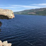 Views of Loch Ness from castle ruins.