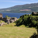 View of the castle and Loch Ness.