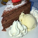 Chocolate Cake with Vanilla Ice Cream