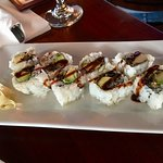 Eel sushi roll at Lookout Tavern