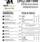 Our current menu