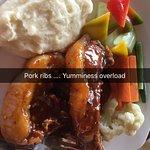 Pork Ribs and mashed potatoes