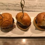 Delicious lamb sliders, the perfect late-night snack.