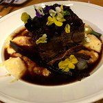 brazed short rib with grits and carrots
