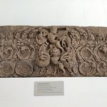 lintel, depicting the Garuda Killing two elephant, on the head of a Singha holding Nagas