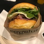 Gaucho-seared wagyu tri-tip steak, cage-free over medium egg, chimichurri, red onions and dresse