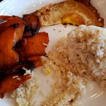 Tocilog breakfast with vegan fried egg and rice