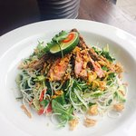 Thai style Larb salad with rare beef