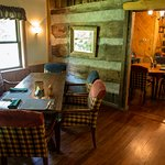 Plenty of seats in the dining rooms. Rustic and cozy.