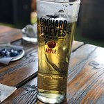 Nice fresh pint of cider great for a sunny day