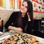 Enjoying best pizza in Lisbon!