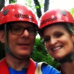 Our 1st time zip lining!! What a rush!!