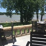 Nice view of the river when you sit on the patio.