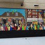 New Orleans Mural Made from Madi Gras beads