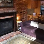 Lounge room with gas log fire